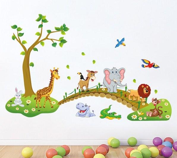 mẫu tranh dán tường 3d đẹp cho các bé