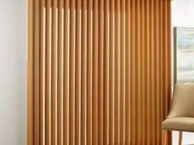 mẫu rèm gỗ cho cửa đi
