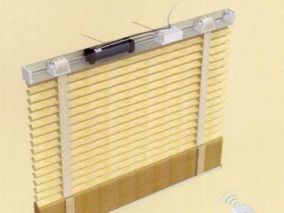 mẫu rèm gỗ điều khiển thông minh