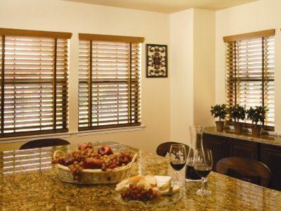 rèm gỗ không gian phòng ăn