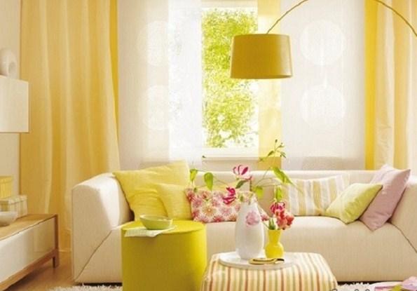 mẫu rèm màu vàng trơn