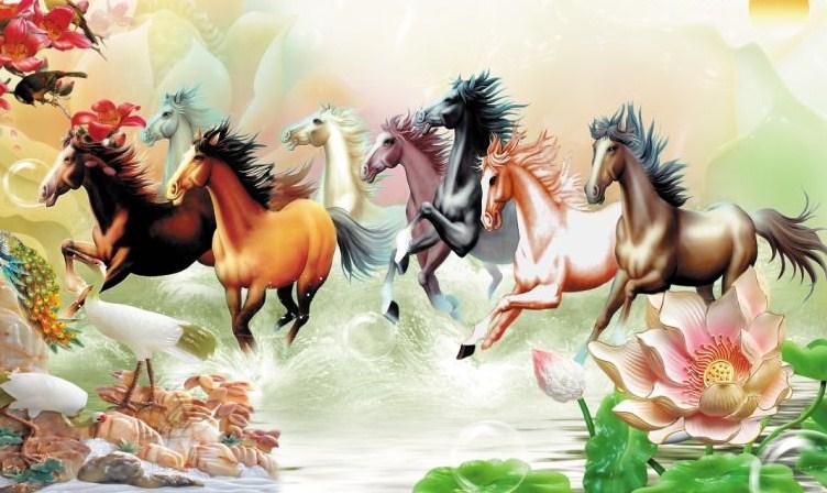 Tranh dán tường con ngựa