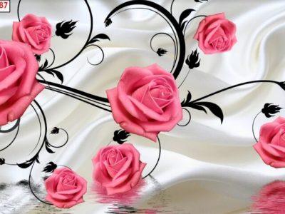 tranh dán hoa hồng đẹp