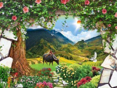 tranh dán tường 3d trang trí