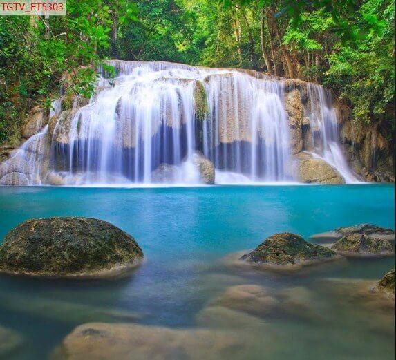 tranh in 3d thác suối đẹp