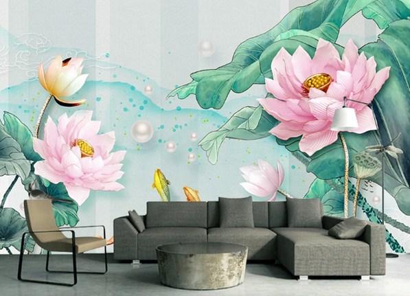 tranh phong cảnh hoa sen
