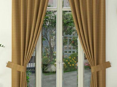 màn phòng khách thiết kế chất liệu vải