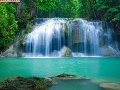 Mẫu tranh 3d thác nước đẹp