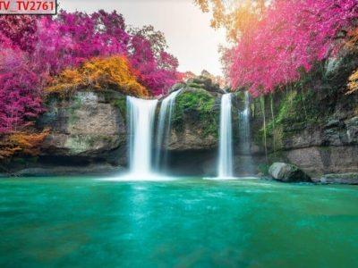 Mẫu tranh 3d thác suối đẹp