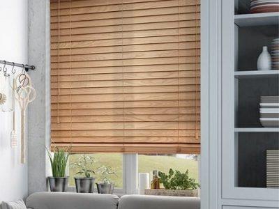 Mẫu rèm cửa sổ bằng gỗ