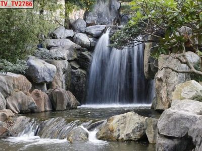 Mẫu tranh 3d thác nước đẹp sắc nét