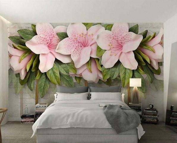 mẫu tranh 3d hoa lá đẹp tinh tế