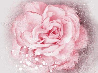 tranh 3d dán tường hoa lá