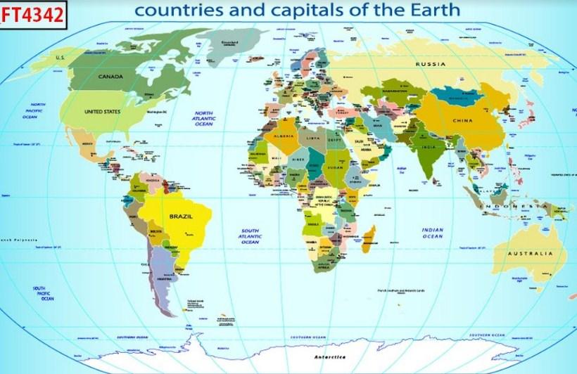 in 3d hình địa cầu