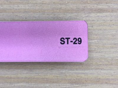 rèm nhôm phủ nhũ màu hồng phấn st-29