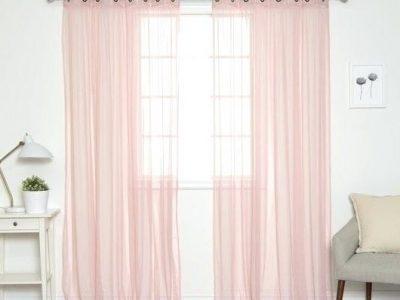 rèm voan màu hồng