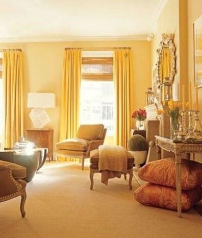 tường màu vàng nên chọn rèm màu nào?